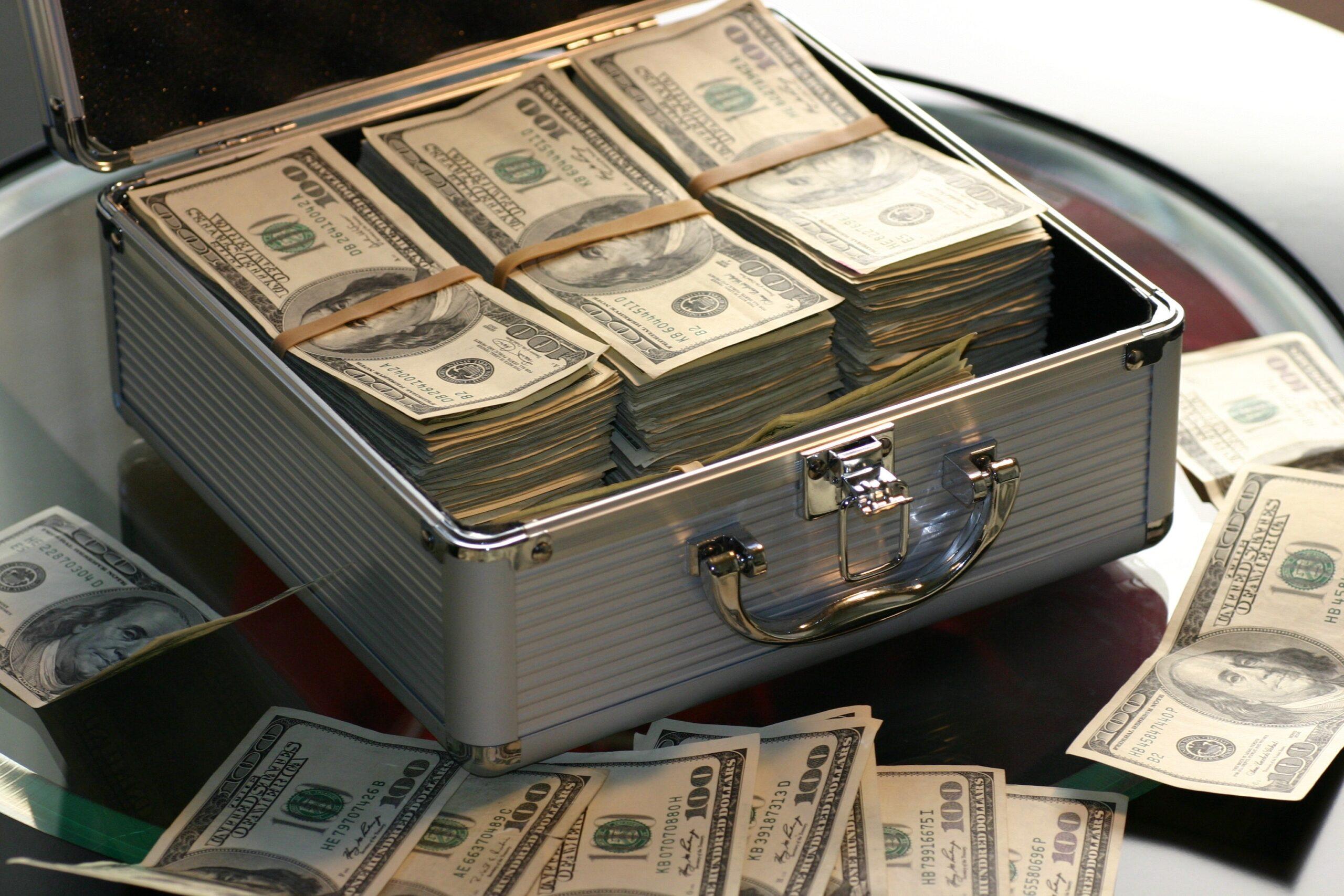 En portfölj med pengar